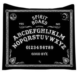 Fluwelen bedsprei woondeken Ouijabord Spiritbord 160 x 160 cm
