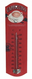 Metal theromometer Cappucino - 26 cm tall