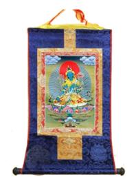 Tibetaanse thangka Blauwe Boeddha 50 x 62 cm
