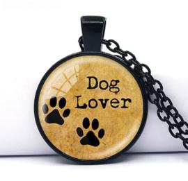 Glazen hanger met ketting Dog Lover Honden liefhebber