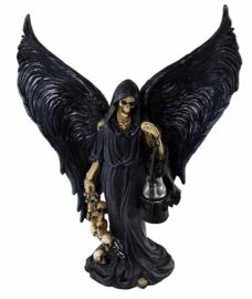 Magere Hein met vleugels en een lantaren 26,5 cm hoog