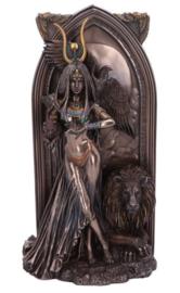The Priestess - bronskleurig beeld - Egyptisch - Isis Cleopatra Hathor - 27 cm hoog