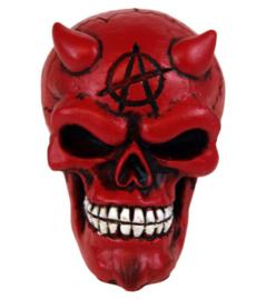 Versnellingspook Rode Duivel met Anarchy teken