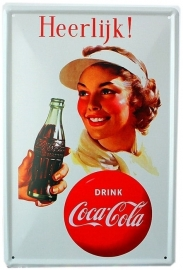 Tin sign Cola 4 20 x 30 cm