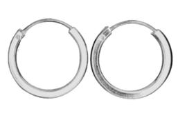 925 Sterling zilveren Creole hoepoorbellen - 16 mm