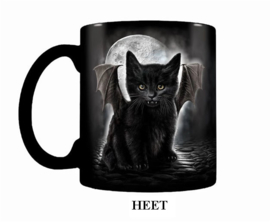 Spiral Direct Koffiemok Heat Change - Bat Cat - Vleermuiskat  - 315 ml
