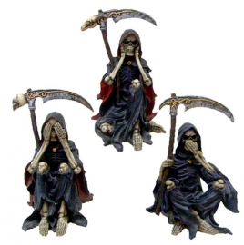 Something Wicked - 3 figurines of the Grim Reaper - 10 cm tall