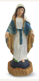 Maria de Wonderdadige - Miraculeuse - polystone beeld - 11 cm hoog