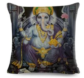 Kussenhoes Hindu God - Ganesha paars - 45 x 45 cm