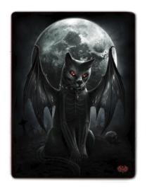 Spiral Direct - Vamp Cat - fleece deken met dessin van een vleermuis-kat - 150 x 200 cm