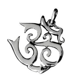925 Sterling zilveren kettinghanger OHM - 2 cm doorsnee