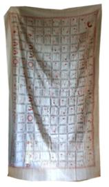 Sarong pareo sjaal tafelkleed multifunctioneel doek yoga posities wit - 114  x 180 cm