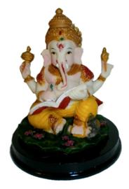 Ganesha gekleurd met boek 12 cm hoog