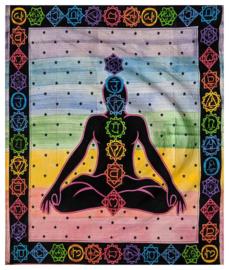 Bedsprei wandkleed tweepersoons Chakra Bhoot - 210 X 220 cm