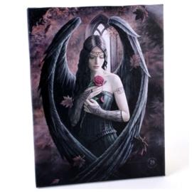 Angel Rose - wandbord van Anne Stokes - 25 x 19 cm