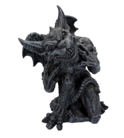 Trust Me - Gargoyle Waterspuwer Tuindecoratie Duivel Satan - 24 cm hoog