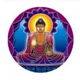 Raamsticker Buddha`s Light