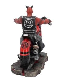 The Devil's Road - Duivel op een Motor - Bikerbeeld - 20 x 9 x 13 cm