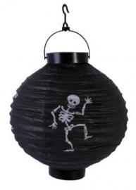 Papieren led lantaren zwarte skelet