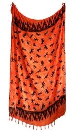 Balinees sarong gekko oranje - 15 x 95 cm
