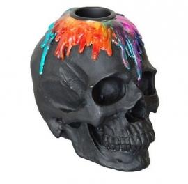 Dripping wax skull - kaarsenhouder - 8.5 cm hoog