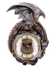 Clockwork Combustor Steampunk Draak Muurklok - 26.5 cm hoog