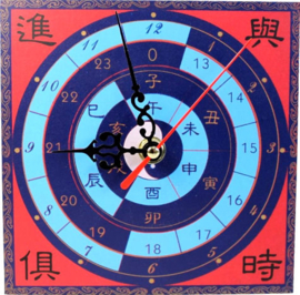 Feng Shui klok - Time passing success coming - 15 x 15 x 2 cm