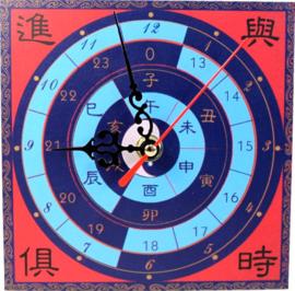Feng Shui klok - Time passing success coming - 15 x 15 x 2 cm