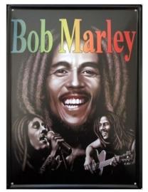 Blikken metalen wandbord Bob Marley 20 x 30 cm