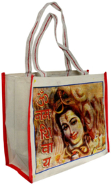 Bollywood Bag Indiase katoenen shopper - Shiva 1 - 35 x 40 x cms