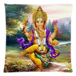 Kussenhoes Ganesha dansend gele broek - 45 x 45 cm
