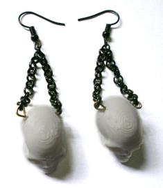 Curiology oorbellen 3D mensenschedels - 1.5 cm doorsnee