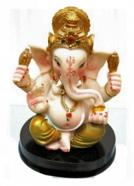 Beeld Ganesha met gele broek - 9 cm hoog