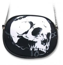 Handtas / schoudertas op ketting - Skull - 18 x 15 cm