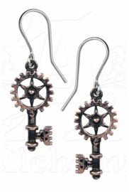 Alchemy Gothic steampunk oorbellen - Clavictraction - 4 cm lang