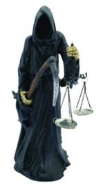 Final Check In - hybride Magere Hein Vrouwe Justitia - 40 cm hoog