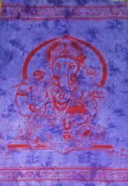 Bedsprei / wandkleed Ganesha paars rood 210 x 240 cm