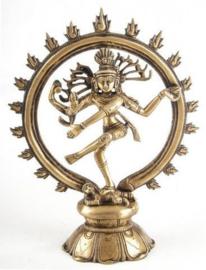 Beeld Shiva Nataraja messing - 10 cm hoog