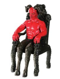 Satan op Troon Rood - 20 x 12 x 10 cm