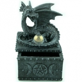 Gothic dragon figurines