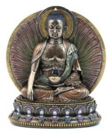 Sakyamuni Boeddha met achterblad 15 cm