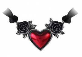 Alchemy Gothic ketting - Bloodheart Rose