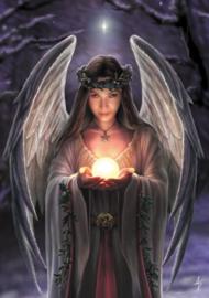 Yule Angel - Wicca Pagan Kerstkaart van Anne Stokes 17.5 x 13,5 cm