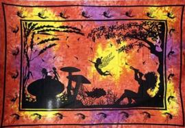 Bedsprei wandkleed Fee met Paddestoelen 225 x 150 cm