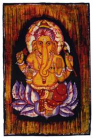 Batik wandkleed van Nepal - Ganesha - 60 x 90 cm
