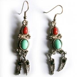 Tibetan style oorbellen