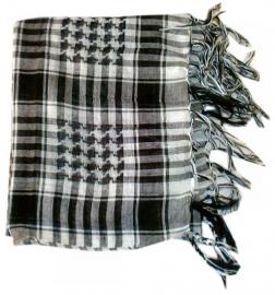 Arafatsjaal / Shemagh / Palestijnse sjaal black white - budget