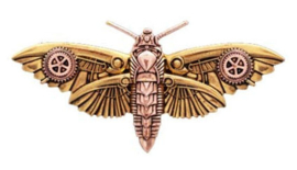 Engineerium Anne Stokes Magadore's Moth broche