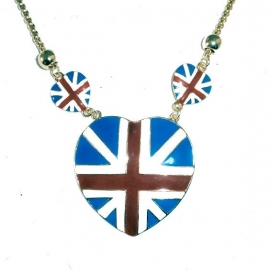 Emaille ketting 'Union Jack'