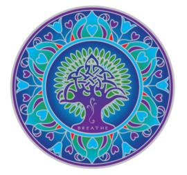 Raamsticker Earth Mandala (Levensboom) - 14 cm Ø
